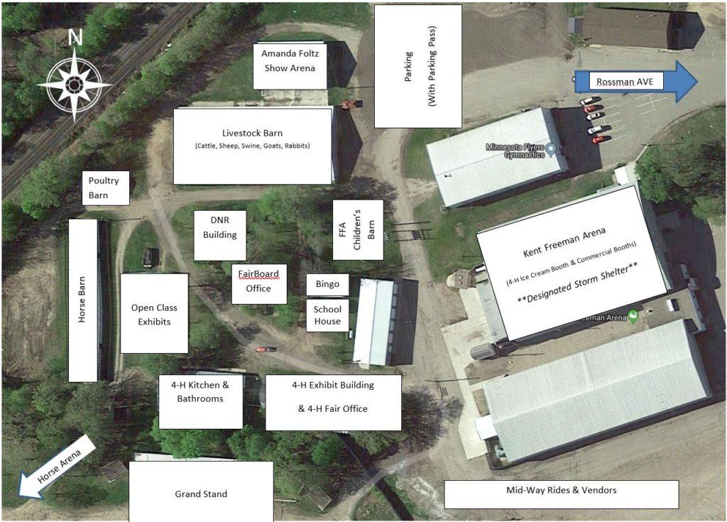 Becker County Fair Labled Map